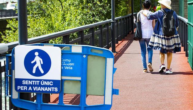 La nova senyalització del circuit del passeig del riu