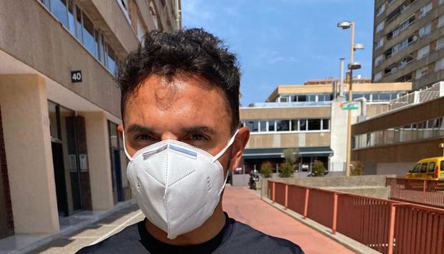 La foto que ha penjat Rodríguez quan ha sortit de l'hospital.