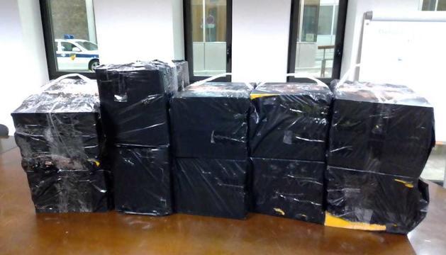Els paquets decomissats.