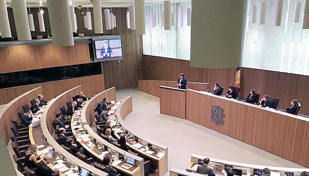 Una sessió de control al Consell General.