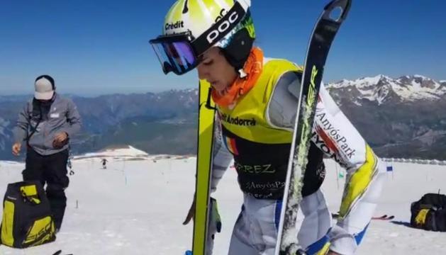 Mireia Gutiérrez, en l'estada de preparació a Les Deux Alpes