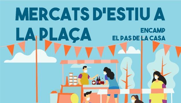 El cartell dels 'Mercats a la plaça'