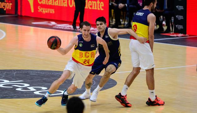 Guille Colom al partit contra el Reial Madrid de la Fase Final de l'ACB,