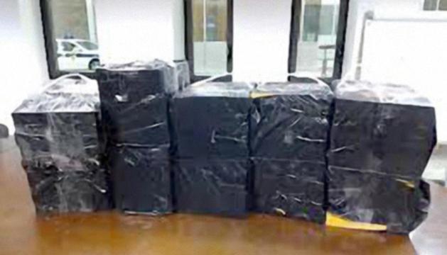 Cartrons de tabac de contraban decomissats al Pas la setmana passada.