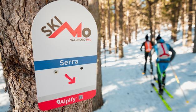 Un dels circuits d'esquí de muntanya de l'estació.