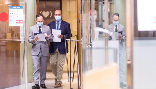 Xavier Espot i Joan Martínez Benazet van informar ahir del brot i de les mesures per frenar els contagis.