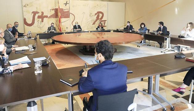 La reunió del Consell Executiu d'ahir.