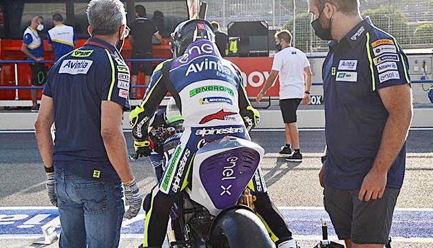 Xavi Cardelús al test realitzat ahir a Jerez.