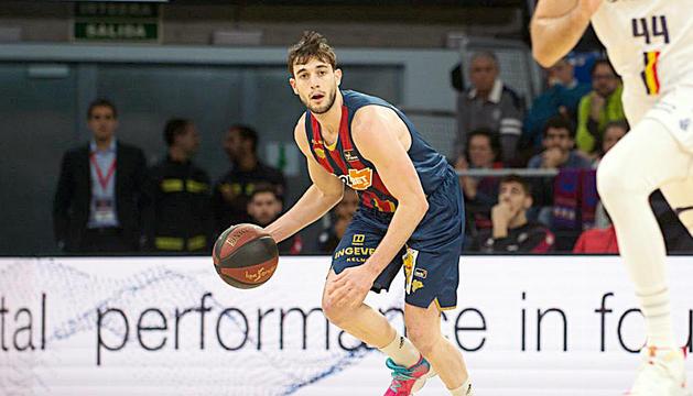 El base mallorquí Sergi Garcia durant el partit d'aquesta temporada davant el MoraBanc Andorra disputat al Buesa Arena.
