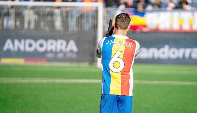 Javi Martos, després d'un partit disputat a Prada de Moles.