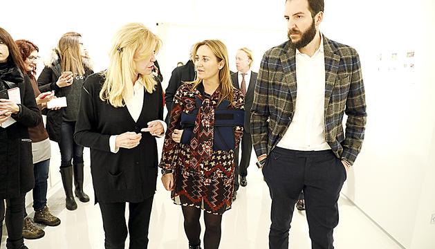 Borja Thyssen en una de les visites al museu amb la baronessa, Carmen Cervera.