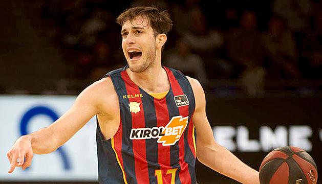 Sergi García, durant un partit amb el Kirolbet Baskonia, signarà per dues temporades.