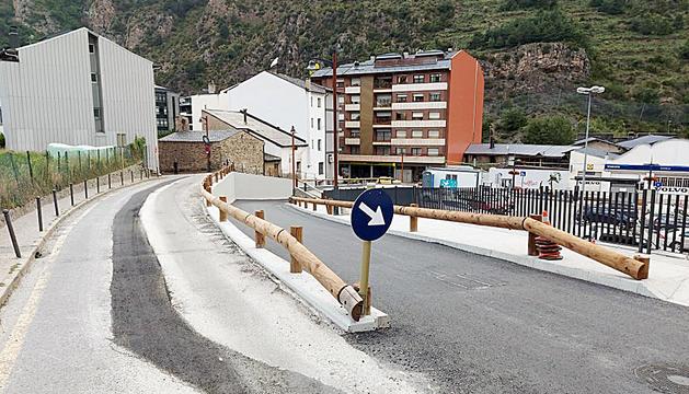 Ampliació de la carretera per garantir la seguretat