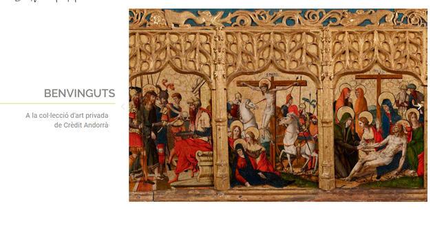 El nou aspecte del web del fons d'art de Crèdit Andorrà.