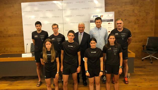 L'equip d'esquí de fons de la Federació Andorrana d'Esquí.