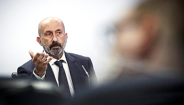 Joan Martínez Benazet, durant la compareixença d'ahir.