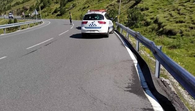 L'estat de la carretera al Cap del Port