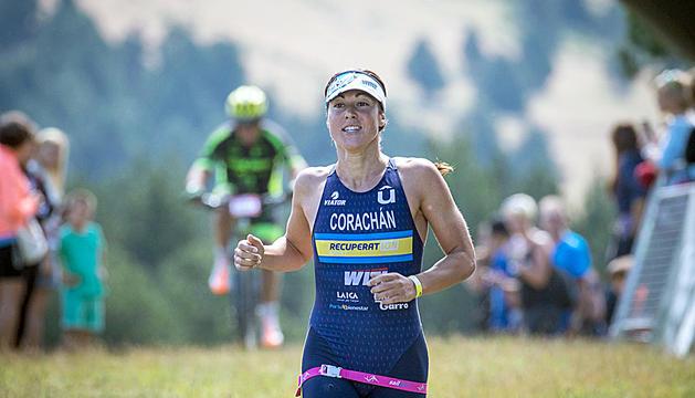 Judith Corachán, medalla de plata al Mundial de triatló de llarga distància el 2019, als Andorra Outdoor Games fa tres anys.