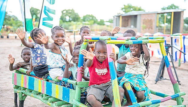 Infants del projecte de Zàmbia.