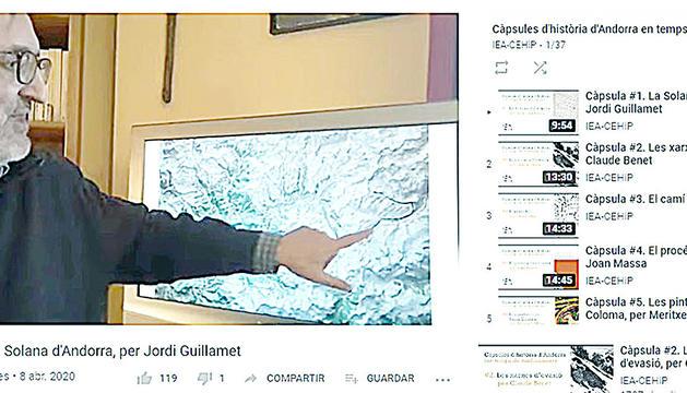 La primera càpsula, impartida per Jordi Guillamet.