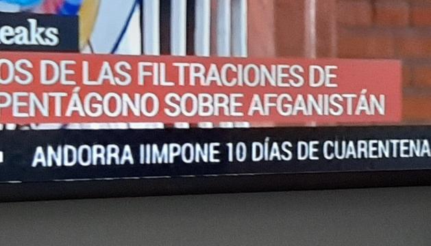 TVE informa equivocadament de quarentena a Andorra