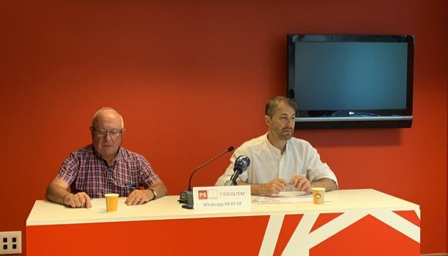 David Rios i Enric Riba en la roda de premsa d'avui