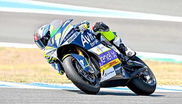 L'andorrà Xavi Cardelús va acabar molt satisfet pel seu primer top-10 de la temporada amb moto elèctrica.