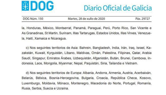La Xunta de Galícia inclou Andorra entre els països amb incidència alta de la Covid-19