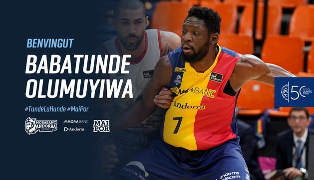 El MoraBanc anuncia el fitxatge de Tunde