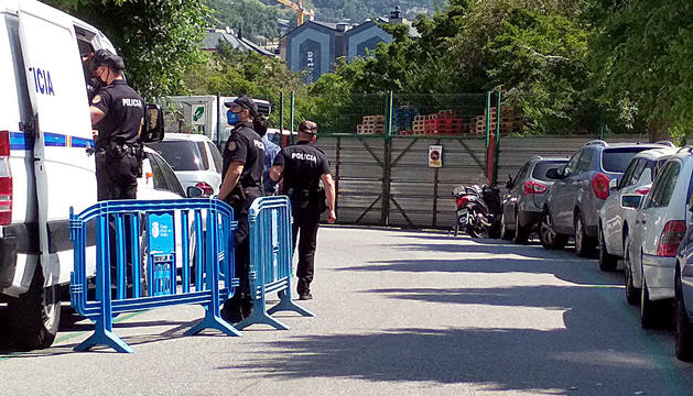 Els presos al moment d'arribar a la notificació de la sentència.
