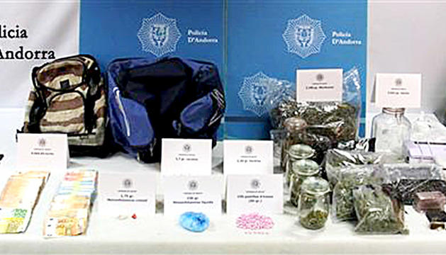 La droga decomissada per la policia