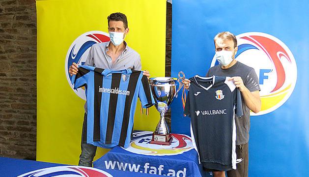 Els tècnics, Adolfo Baines i Marc Rodríguez, esperen una final amb molta igualtat.