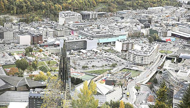 Vista del centre d'Escaldes