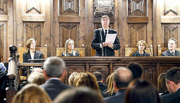 El president i els quatre integrants del Consell Superior de la Justícia.