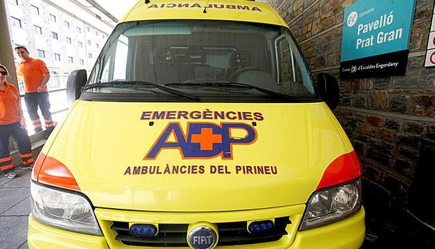 Un furgó d'Ambulàncies del Pirineu