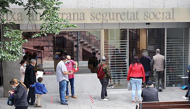 Entrada de la Caixa Andorrana de la Seguretat Social.