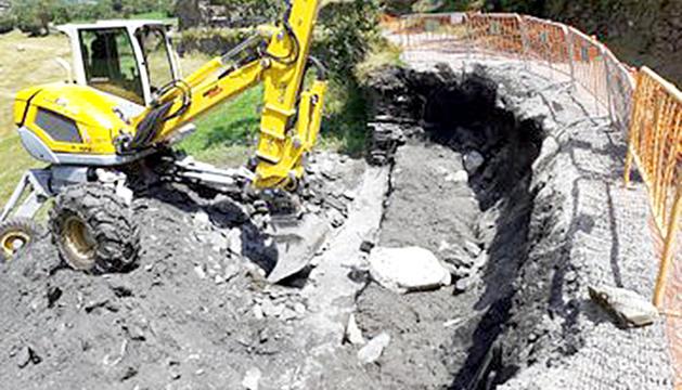 Els treballs de reconstrucció del camí Ral.