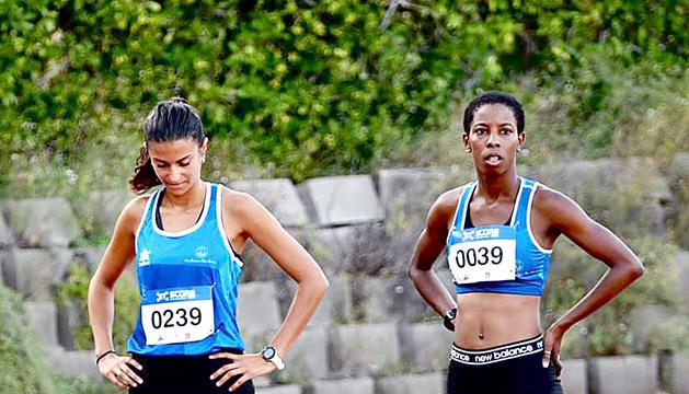 Dayane Huerta, a la dreta, va aconseguir el millor temps a Gavà.
