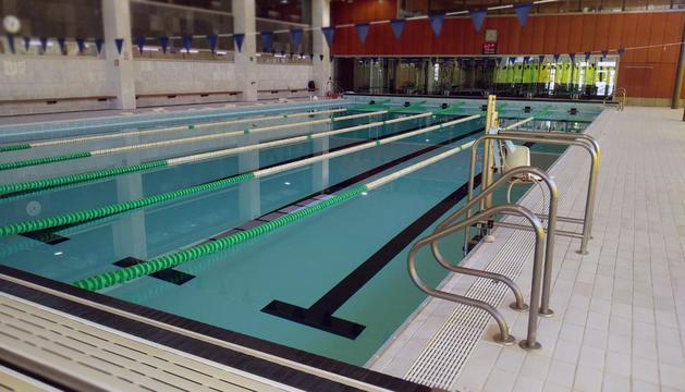 La piscina del Complex esportiu d'Encamp