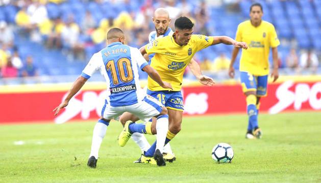 Borja Herrera en un duel contra el Leganés.