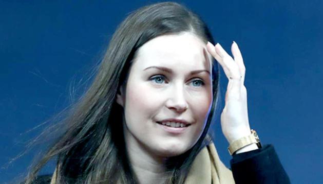 La primera ministra de Finlàndia, la socialdemòcrata Sanna Marin.