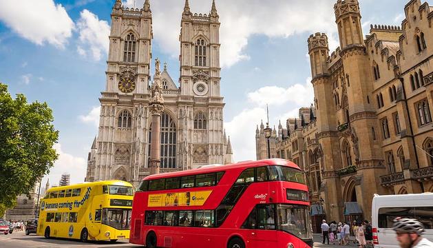 L'abadia de Westminster, al costat del Parlament britànic.
