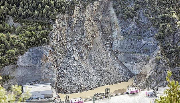 Imatge de l'esllavissada del 10 d'agost del 2019 a la Portalada.