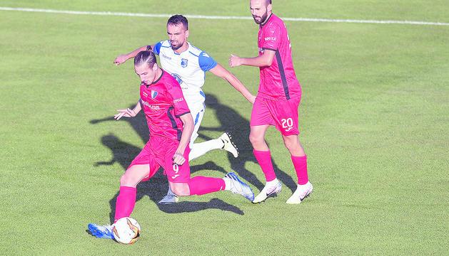 Acció del duel celebrat ahir a Nyon entre Inter Escaldes i FC Drita.
