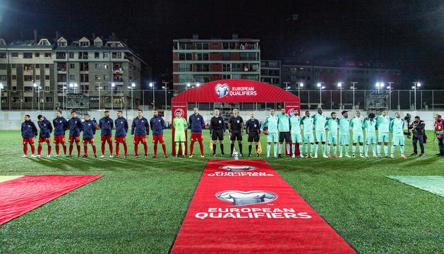 Alineacions dels Equips nacionals d'Andorra i Portugal
