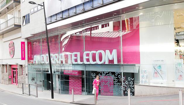 L'oficina comercial d'Andorra Telecom.