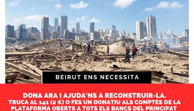 Detall de la campanya en favor de Beirut.