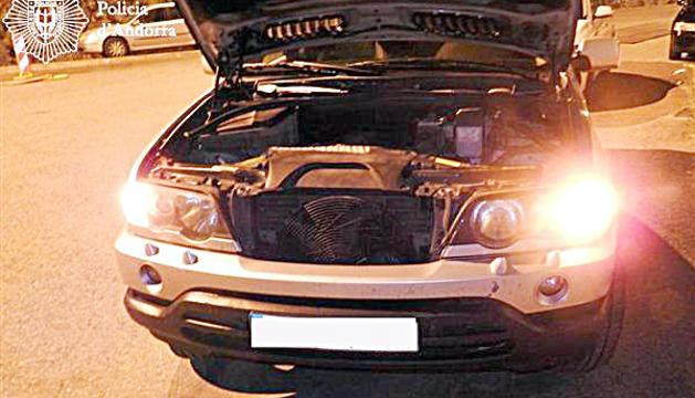 El vehicle que utilitzaven per fer contraban.
