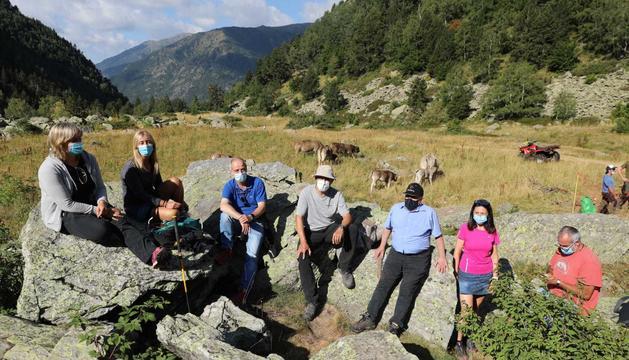 Algunes de les autoritats que han assistit aquest matí a la benedicció del bestiar a Ordino.