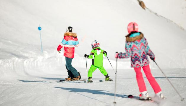 Esquiadors l'hivern passat.